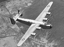 Airplane Picture - XB-24 in flight