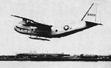 Airplane Picture - YC-123E with pantobase landing gear