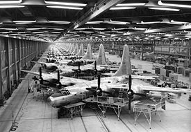 Airplane Picture - TB-32s being assembled at Consolidated's Fort Worth factory