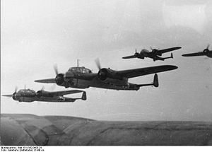 Warbird Picture - A formation of Dornier Do 17Zs, circa 1940
