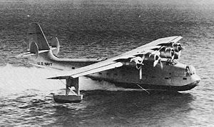 Airplane Picture - The XPB2Y-1 prototype with a single tail in 1938.