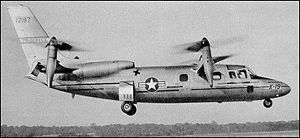 Warbird Picture - X-19 in hovering flight