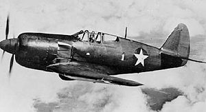Warbird Picture - Curtiss XP-60C in flight, modified from second XP-60A, with Pratt & Whitney R-2800 engine and contra-rotating propellers.