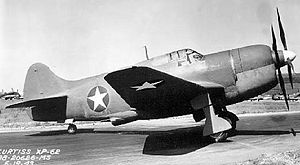 Warbird Picture - A Curtiss-XP-62 on the tarmac.