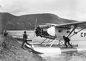 Warbird Picture - Fairchild 82 float plane at Forty Mile, Yukon, July 1938