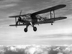 Warbird Picture - L7075, the second prototype of the Fairey Albacore in flight. The markings place it around 1940.
