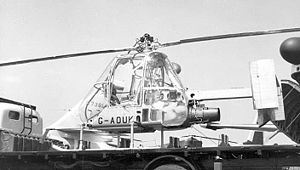 Warbird Picture - The fourth Ultra-light Helicopter exhibited on a lorry at the 1957 Paris Air Salon