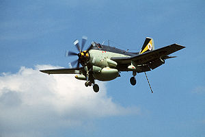 Warbird Picture - Fairey Gannet AEW.3 of the Royal Navy's Fleet Air Arm