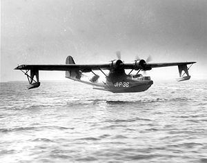 Warbird Picture - PBY-5 landing at Naval Air Station Jacksonville.