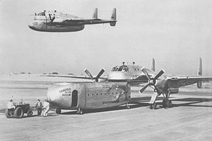 Warbird Picture - Composite image of the sole XC-120 on the ground, and in flight.