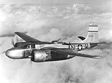 Aircraft Picture - A-26B-15-DL (41-39186) during field testing with 553d Bomb Squadron, 386h Bomb Group.