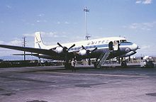Aircraft Picture - UAL DC-6 at Stapleton Airport, Denver, in September 1966