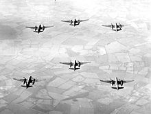 Aircraft Picture - A-20s in bombing formation during World War II.