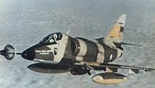 Aircraft Picture - An Argentine A-4C being refueled shortly before its loss on 9 May 1982.