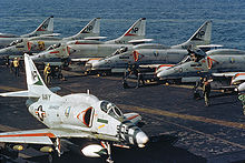 Aircraft Picture - Armed A-4Fs on the USS Hancock in 1972