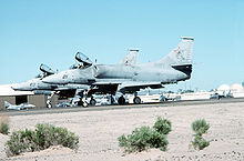 Aircraft Picture - VFC-13 adversary A-4Fs at NAS Fallon in 1993.