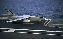 Aircraft Picture - An A3D-1 of Heavy Attack Squadron THREE (VAH-3) on the USS Franklin D. Roosevelt in 1957. VAH-3 was the Replacement Air Group (RAG) squadron for the Atlantic Fleet A3D/A-3 community.
