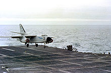 Aircraft Picture - An A3D-2 of Heavy Attack Squadron SIX (VAH-6) lands on the USS Ranger in 1958