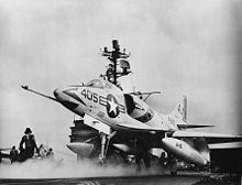 Aircraft Picture - VA-81 A4D-2 on the USS Forrestal in 1962.