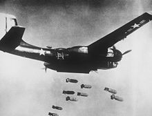 Aircraft Picture - A B-26C Invader on a bombing run over Korea.