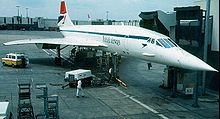 Aircraft Picture - British Airways Concorde in the initial BA livery at Heathrow Airport