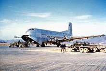 Aircraft Picture - An early C-124A during the Korean War.