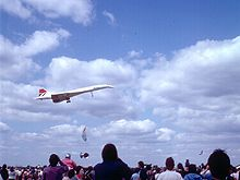Aircraft Picture - Concorde performing a low-level flypast at an air show