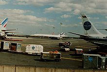 Aircraft Picture - An Air France Concorde at John F. Kennedy International Airport in 1987