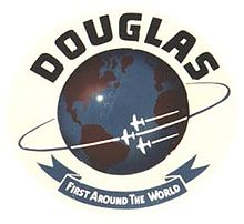 Aircraft Picture - Douglas Aircraft Company's logo was later changed in commemoration of the first aerial circumnavigation.