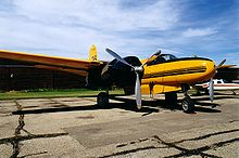 Aircraft Picture - Aerial firefighting Douglas A-26C Invader owned by Air Spray (1967) Ltd at Red Deer, Alberta, 2000