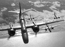 Aircraft Picture - A flight of A-20G or H bombers over France, 1944.