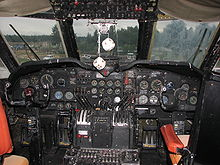 Aircraft Picture - Cockpit of C-124 on display at the McChord Air Museum, McChord AFB, WA.