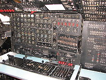 Aircraft Picture - Flight engineer's station of a C-124.