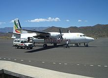 Aircraft Picture - Fokker 50 - Ethiopian Airlines at Lalibela airport