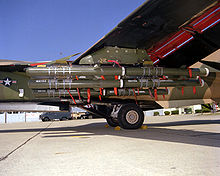 Aircraft Picture - F-111 external payload of BLU-107 Durandal concrete penetration bombs