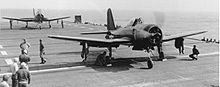 Aircraft Picture - FR-1 trials aboard USS Ranger, May 1945.