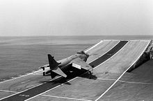 Aircraft Picture - A Sea Harrier FRS 1 on HMS Invincible