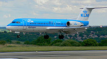 Aircraft Picture - KLM Fokker 70 at Leeds Bradford International Airport, UK