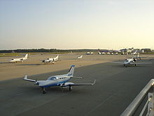 Aircraft Picture - The General Aviation Terminal at Raleigh-Durham International Airport. Terminal 1 is in the background.