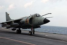 Aircraft Picture - Sea Harrier FRS51. of the Indian Navy taking off from INS Viraat