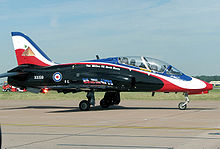 Aircraft Picture - Hawk T1A of the RAF, marking the 85th anniversary of No. 4 Flight Training School