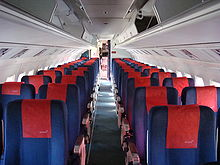 Aircraft Picture - Interior of a Fokker 50 of Skyways Express