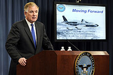 Aircraft Picture - Deputy Secretary of Defense William Lynn, speaks about KC-X at a press conference at the Pentagon on 24 September 2009.