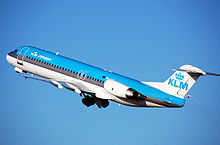 Aircraft Picture - KLM Cityhopper Fokker 100 (old colors)