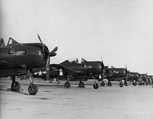 Aircraft Picture - VF-66 planes at NAS North Island, 1945.