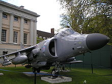 Aircraft Picture - A Sea Harrier FA2 on display at the National Maritime Museum in May 2006