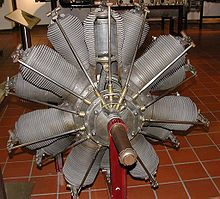 Aircraft Picture - German Oberursel U.III engine in museum