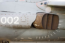 Aircraft Picture - Sea Harrier FA2 ZA195 (upgrade) vector thrust nozzle - distinguishing feature of the jump jet