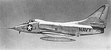 Aircraft Picture - The XA4D-1 prototype in 1954