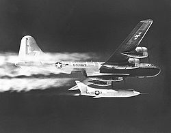 Aircraft Picture - The Douglas Skyrocket was dropped from a Navy B-29